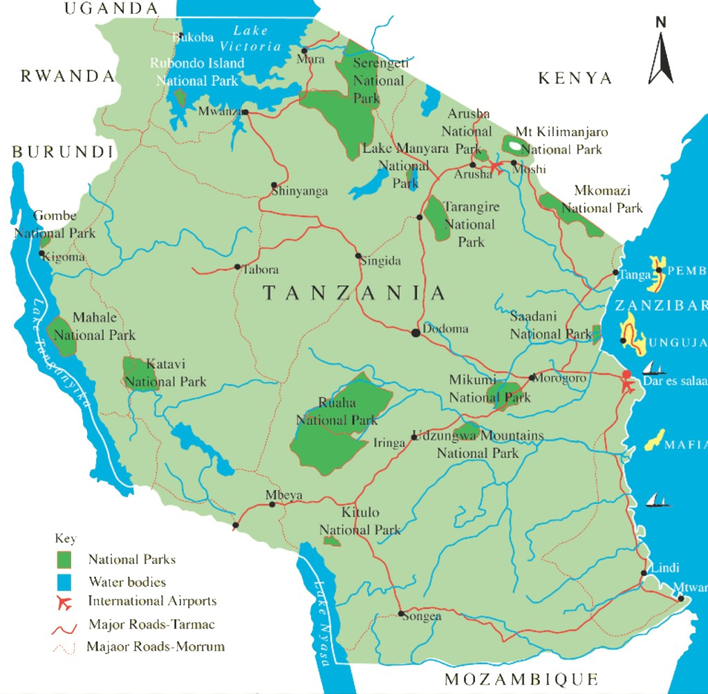 Tanzania Destination Information Love And Dove Africa - Africa map kilimanjaro